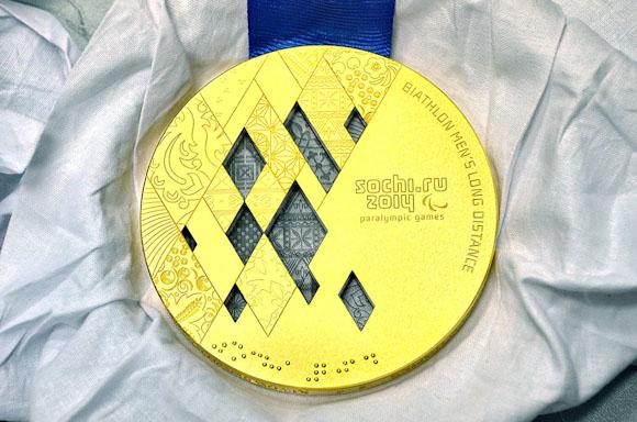 Medalla Oro Policarbonato Sochi