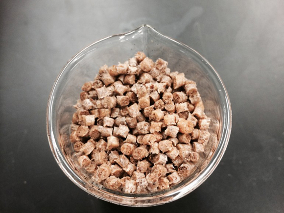La segunda fase consiste en convertir la pulpa en granza de bioplástico (Foto: Ford)