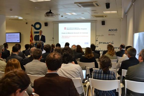 El conseller de Empresa y Ocupación, Felip Puig, en la presentación del clúster